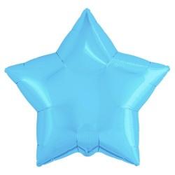 Шар с гелием ЗВЕЗДА холодная-голубая 77см