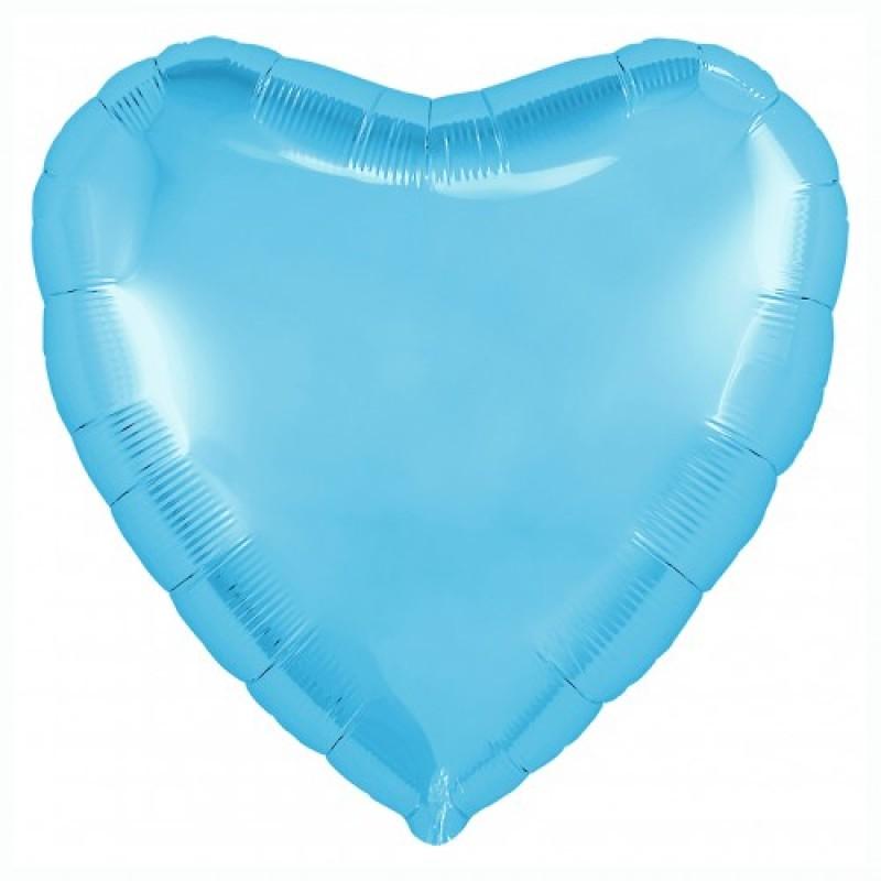 Шар с гелием СЕРДЦЕ холодно-голубое 77см