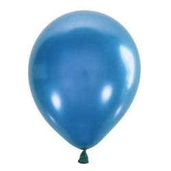 Шар с гелием, обработан HiFloat, Металлик BLUE 022