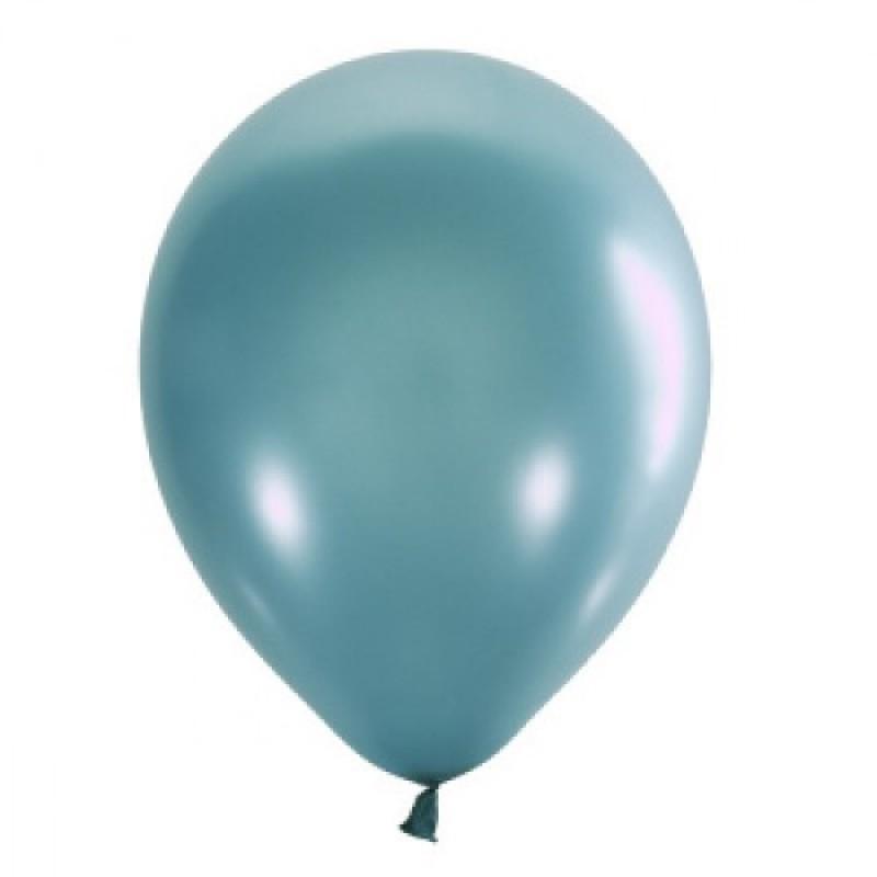 Шар с гелием, обработан HiFloat, Металлик AQUA BLUE 039