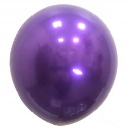Шар с гелием,  ХРОМ Стеклянный Purple 049, обработан HiFloat