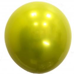 Шар с гелием,  ХРОМ Стеклянный Yellow 041, обработан HiFloat