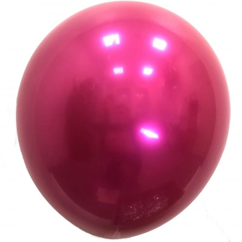 Шар с гелием,  ХРОМ Стеклянный Ryby Red 051, обработан HiFloat