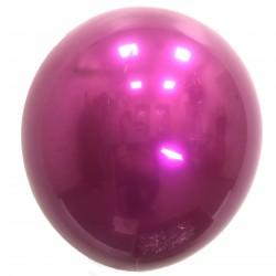 Шар с гелием,  ХРОМ Стеклянный Dark Violet 061, обработан HiFloat