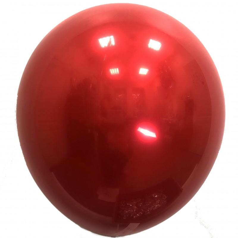 Шар с гелием,  ХРОМ Стеклянный Cherry Red 058, обработан HiFloat