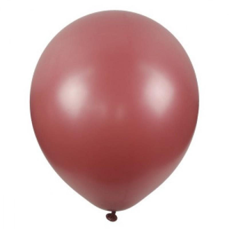 Шар с гелием, обработан HiFloat, WINE RED 846
