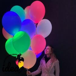 Букет светящихся шаров ассорти (15штук, 5 цветов)