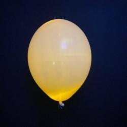 Шар с гелием светящийся, желтый