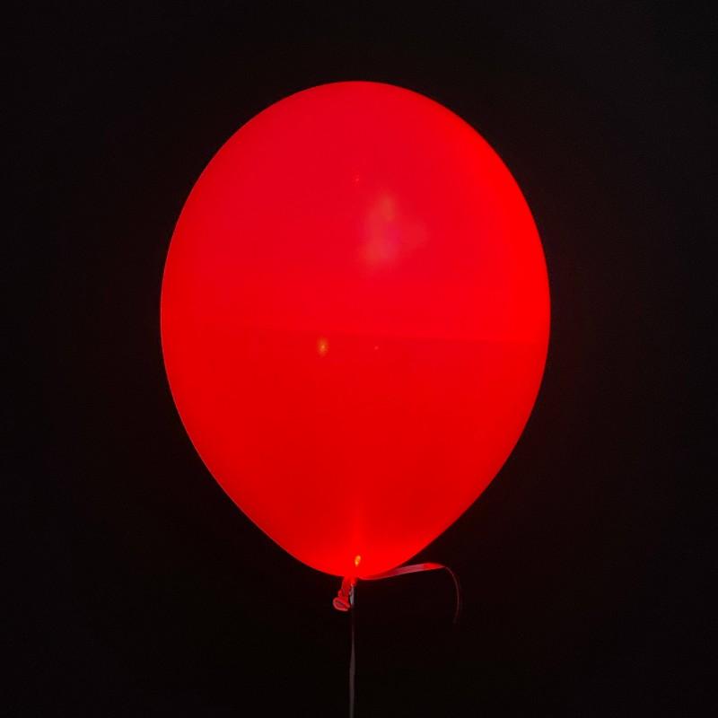 Шар с гелием светящийся, красный