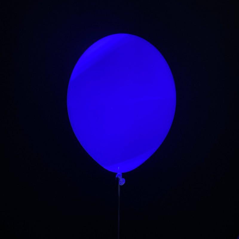 Шар с гелием светящийся, синий