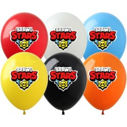 Шар с гелием, с рис brawl stars лого, обработан HiFloat (1шт)