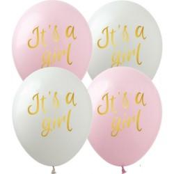 Шар с гелием, с рис It's a girl, обработан HiFloat (1шт)