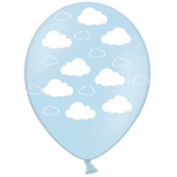 Шар с гелием, с рис Облака на голубом, обработан HiFloat (1шт)