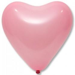 Сердечко латексное с гелием, обработано HiFloat, розовое