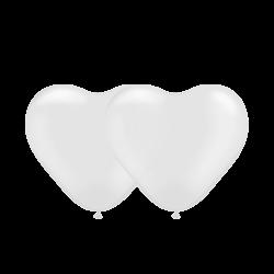 Сердечко латексное с гелием, обработано HiFloat, прозрачное (1шт)