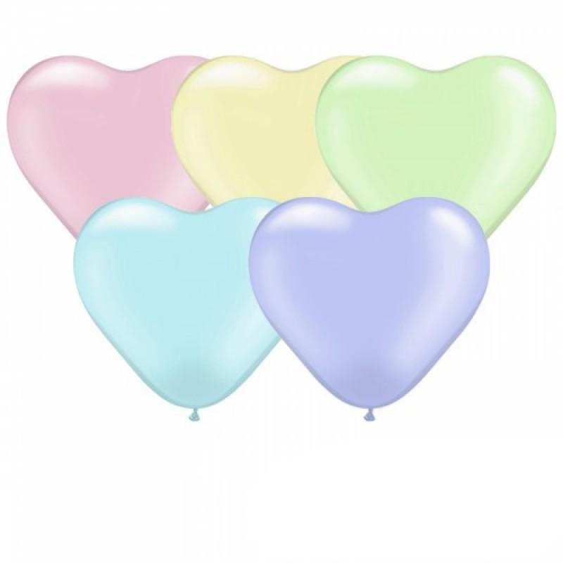 Сердечко латексное МАКАРУН с гелием, обработано HiFloat